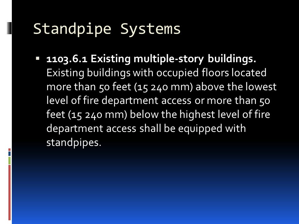 Standpipe Systems