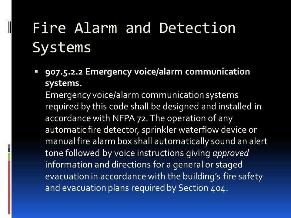Fire Alarm and Detection Systems