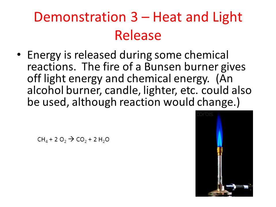 Demonstration 3 – Heat and Light Release