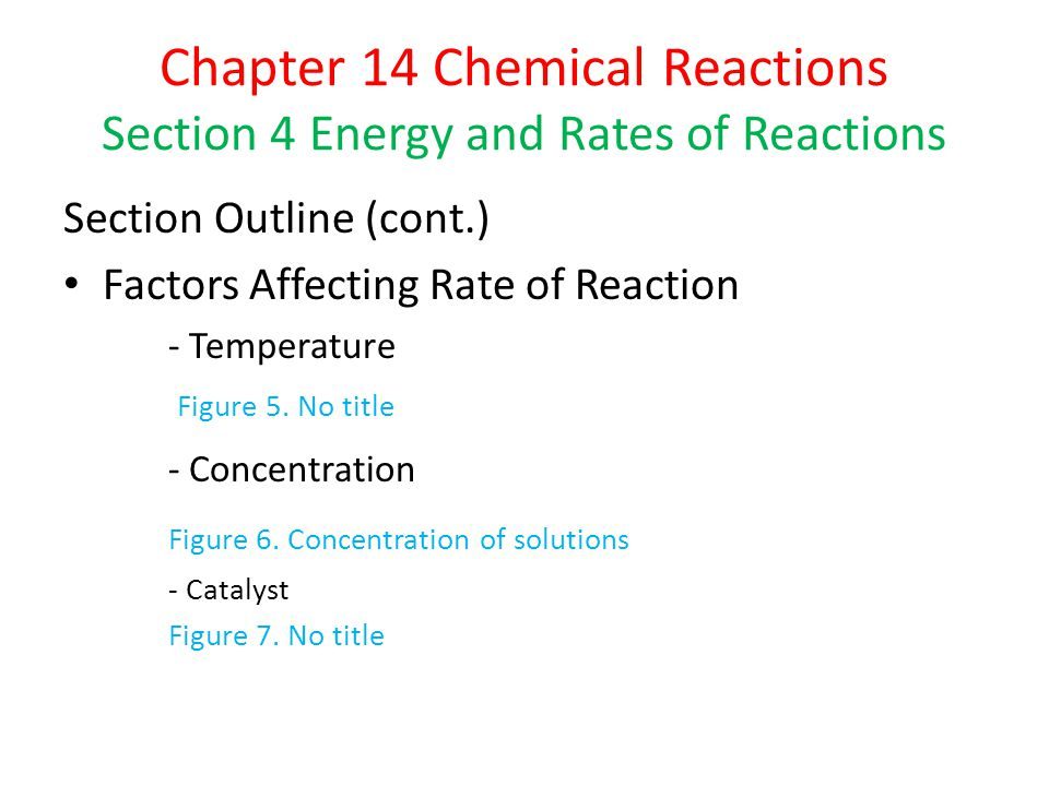Chapter 14 Chemical Reactions Section 4 Energy and Rates of Reactions