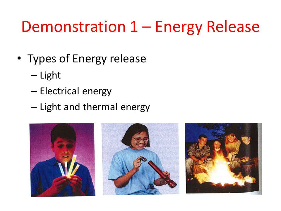 Demonstration 1 – Energy Release