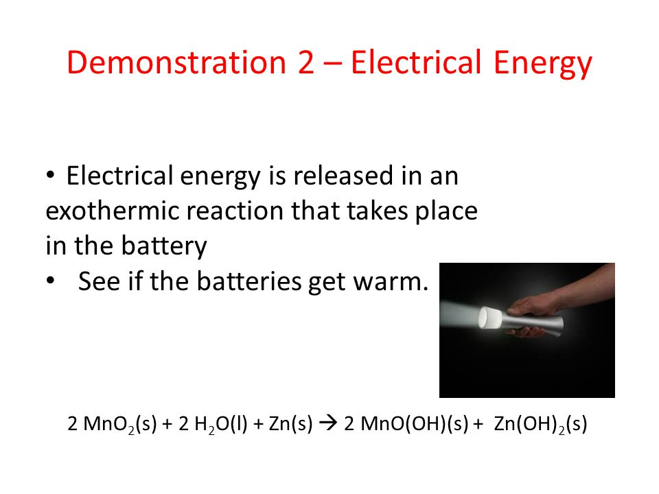 Demonstration 2 – Electrical Energy