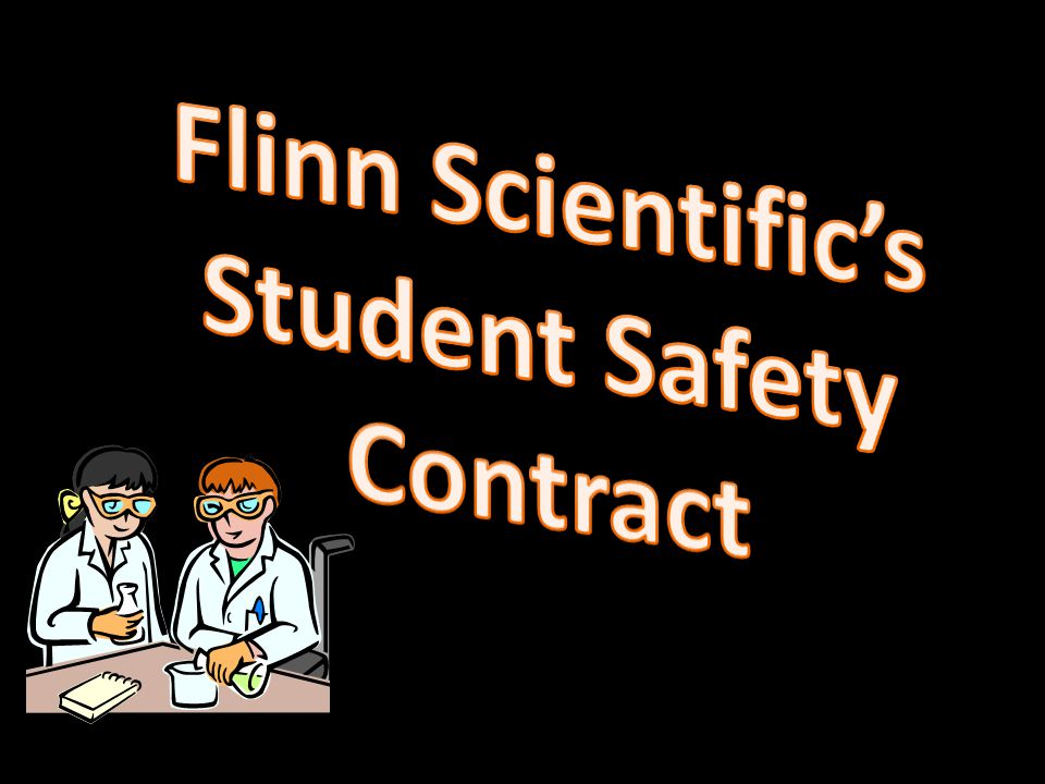 Flinn Scientific's Student Safety Contract