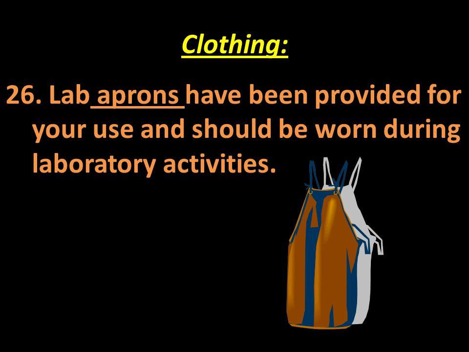 Clothing: 26.