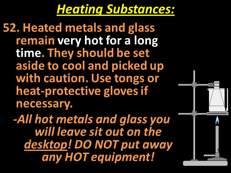 Heating Substances: