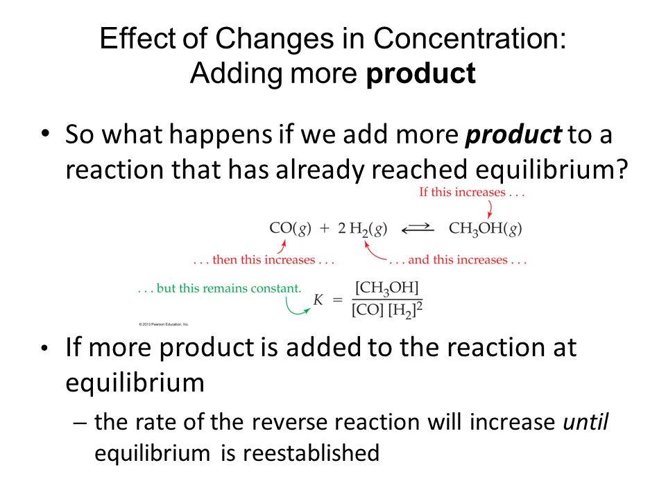 Effect of Changes in Concentration: Adding more product