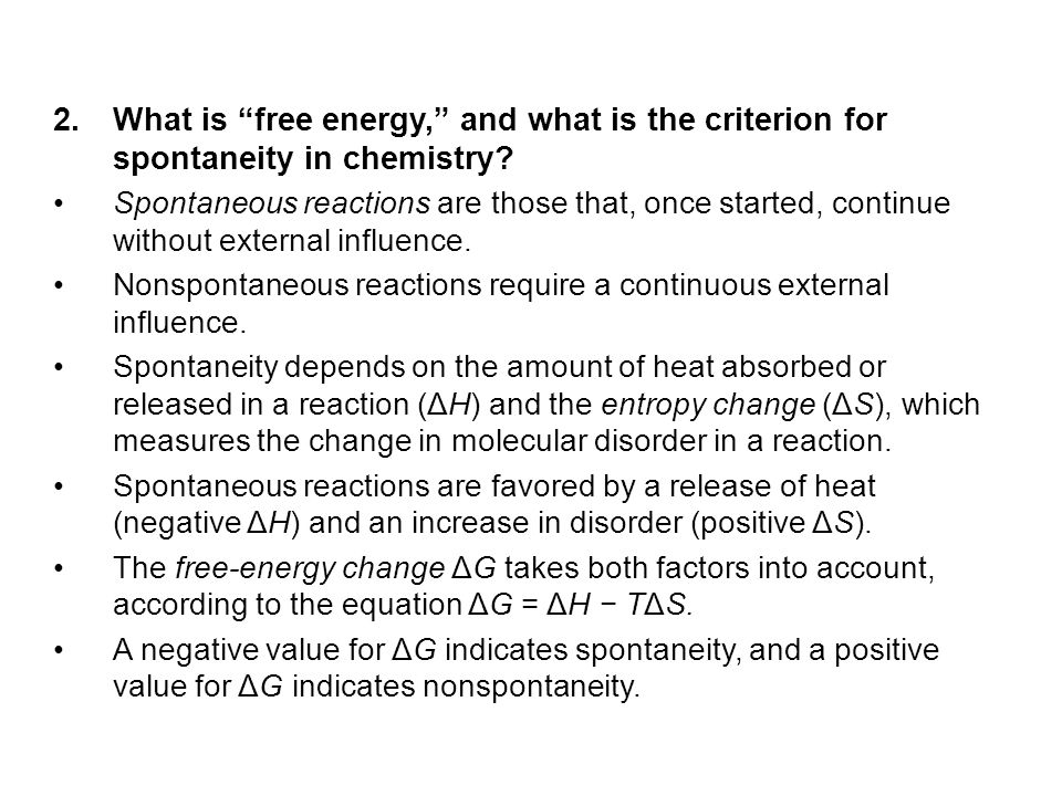 What is free energy, and what is the criterion for spontaneity in chemistry