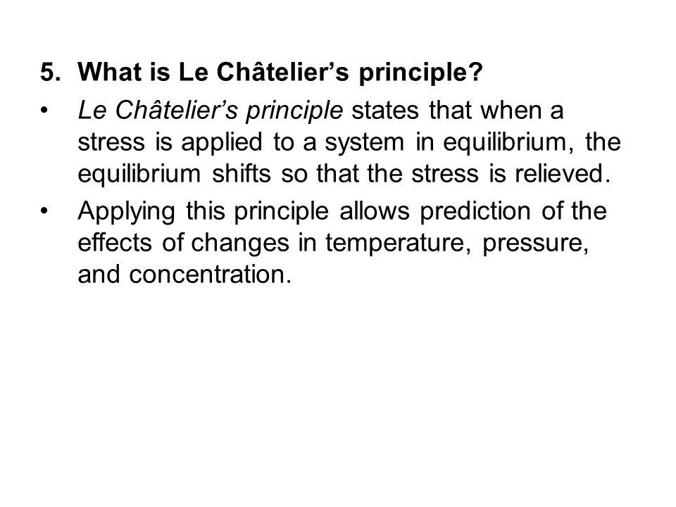 What is Le Châtelier's principle