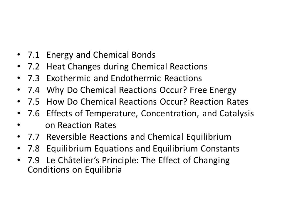 7.1 Energy and Chemical Bonds