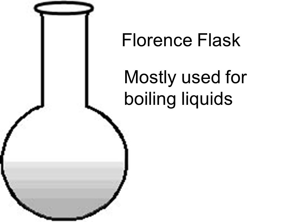 Florence Flask Mostly used for boiling liquids