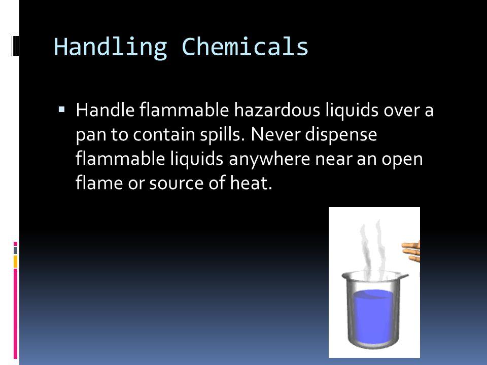 Handling Chemicals