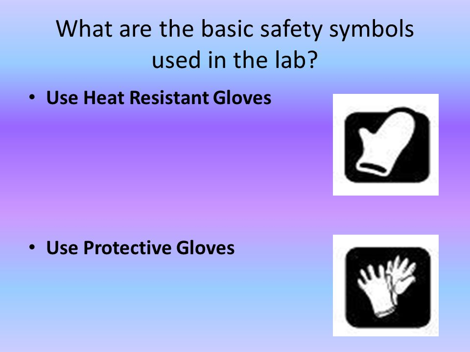 What are the basic safety symbols used in the lab
