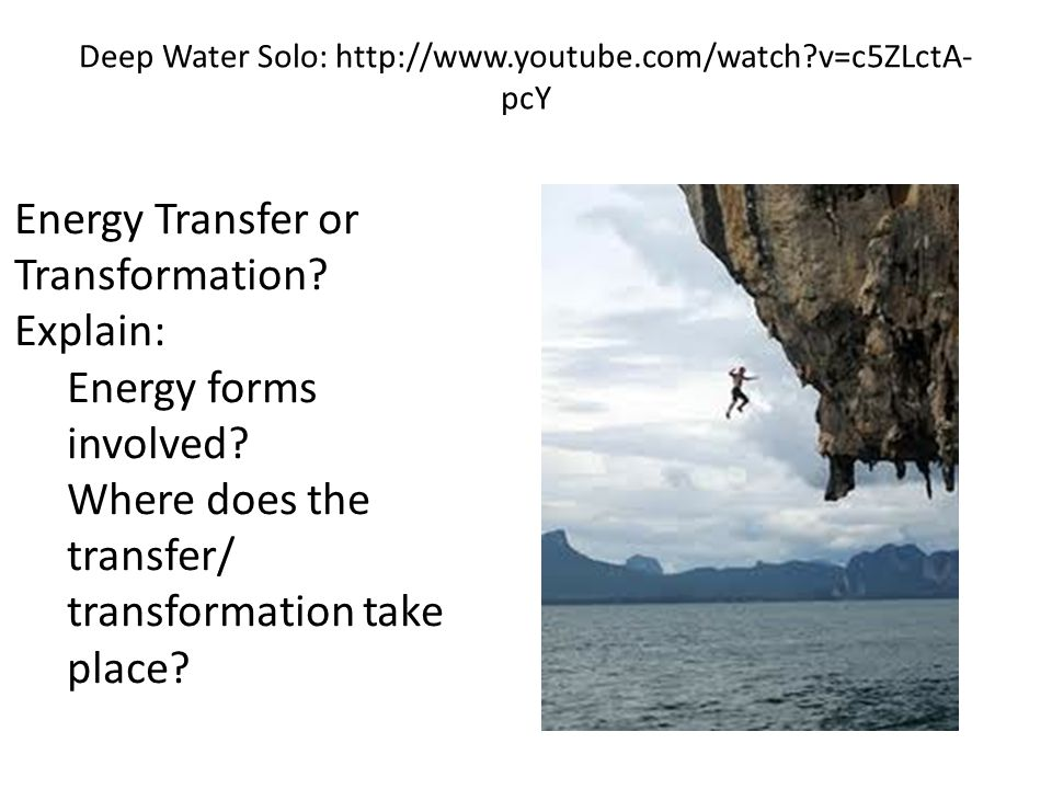 Deep Water Solo: http://www.youtube.com/watch v=c5ZLctA-pcY