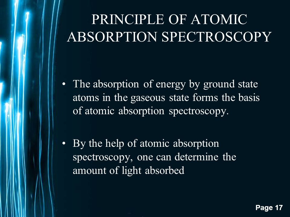 PRINCIPLE OF ATOMIC ABSORPTION SPECTROSCOPY