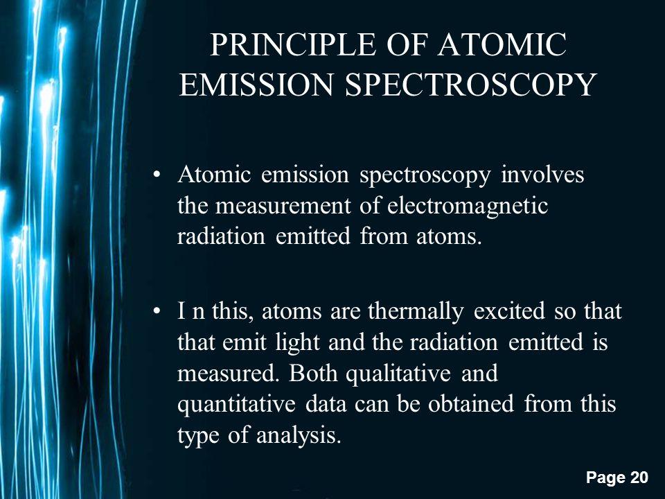 PRINCIPLE OF ATOMIC EMISSION SPECTROSCOPY