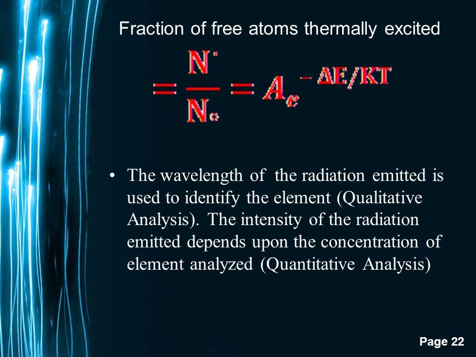 Fraction of free atoms thermally excited