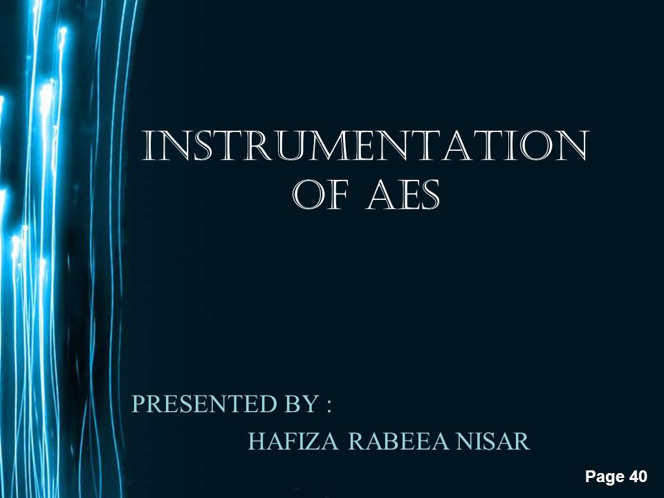 INSTRUMENTATION OF AES