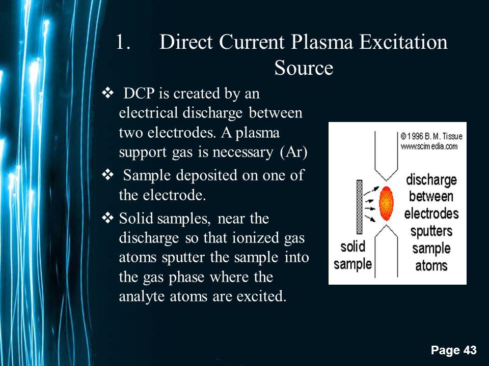 Direct Current Plasma Excitation Source