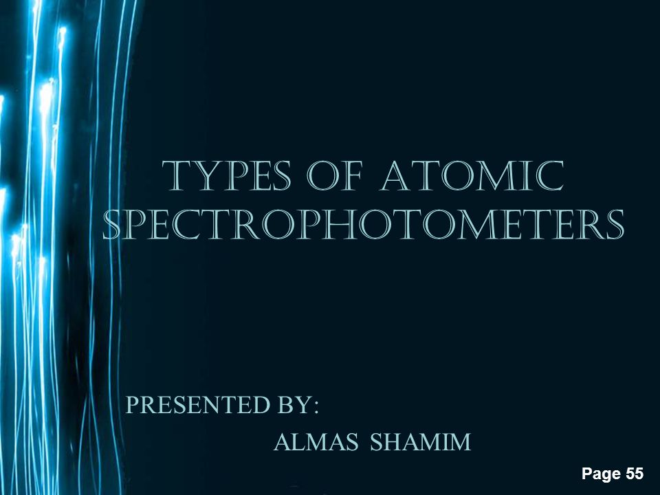 TYPES OF ATOMIC SPECTROPHOTOMETERS