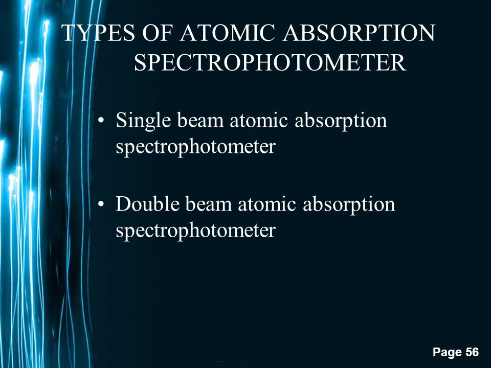 TYPES OF ATOMIC ABSORPTION SPECTROPHOTOMETER