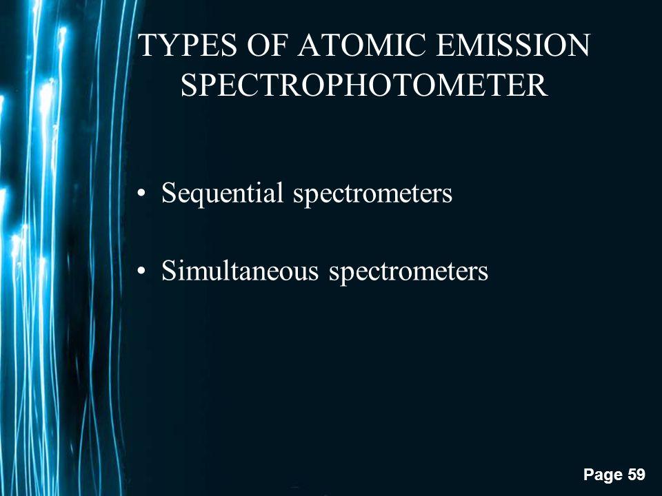 TYPES OF ATOMIC EMISSION SPECTROPHOTOMETER