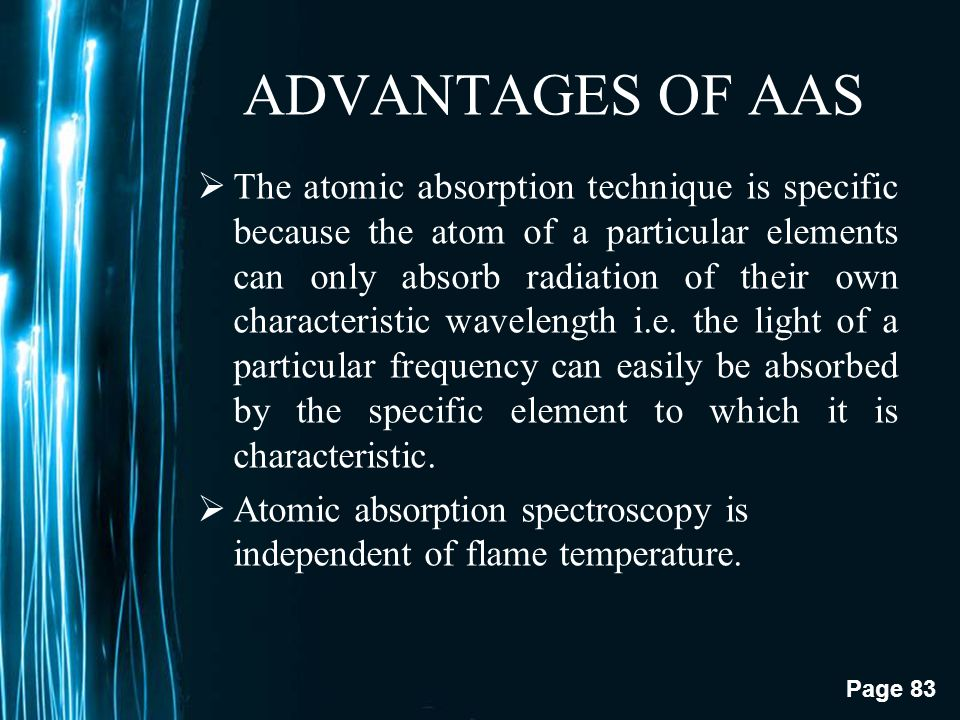 ADVANTAGES OF AAS