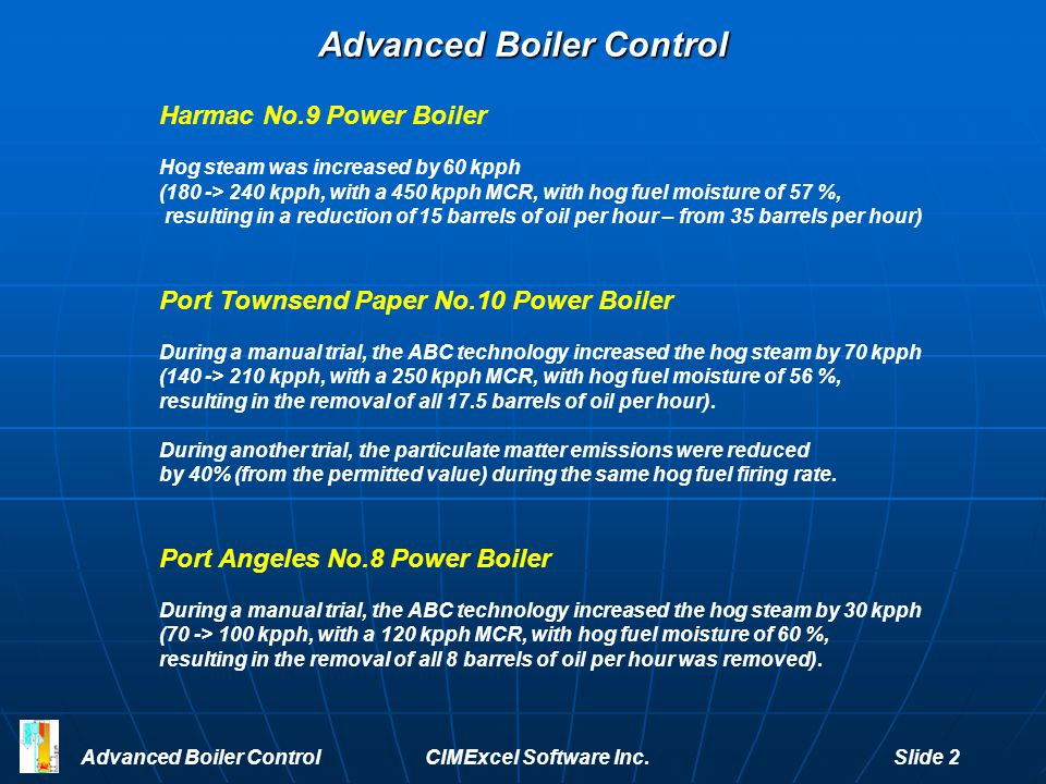 Advanced Boiler Control
