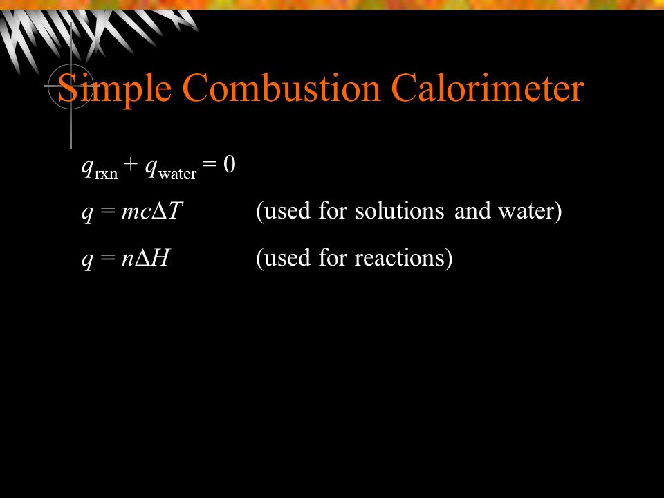Simple Combustion Calorimeter