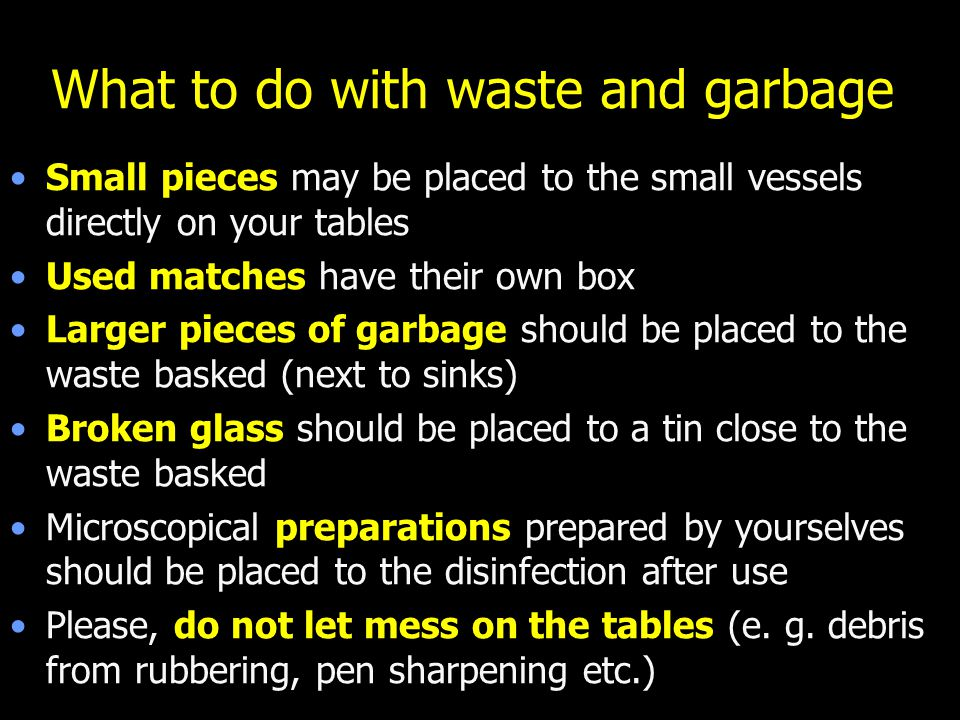 What to do with waste and garbage