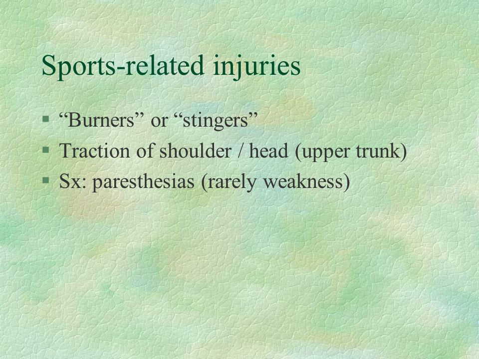 Sports-related injuries