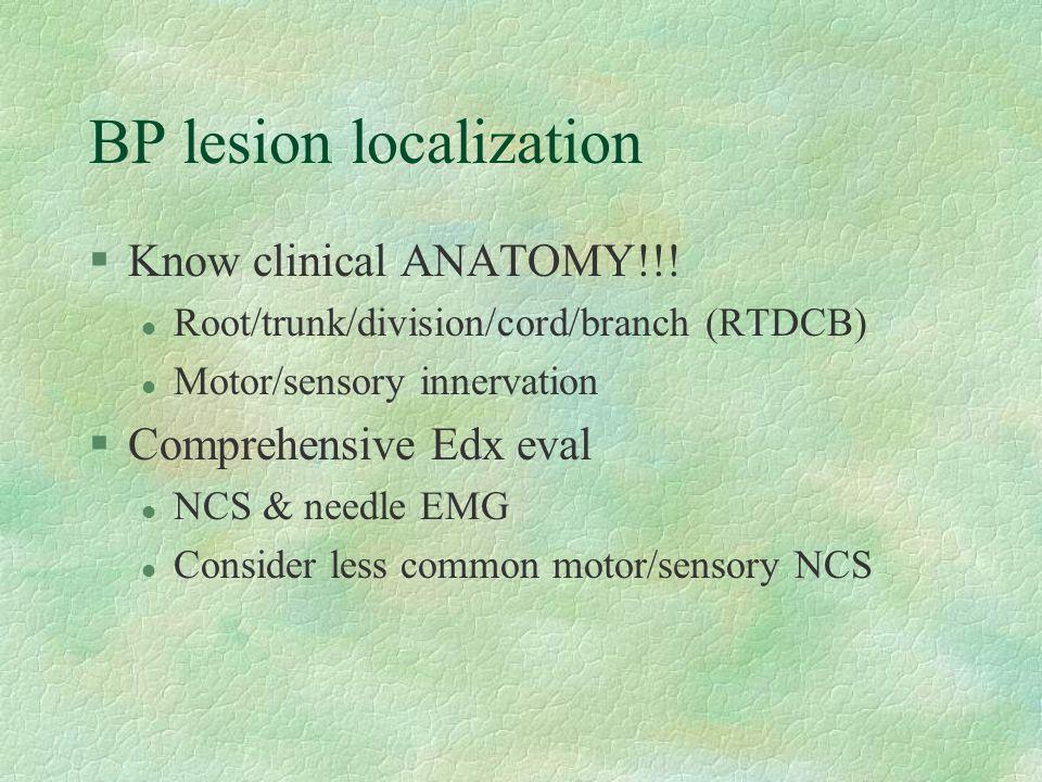 BP lesion localization