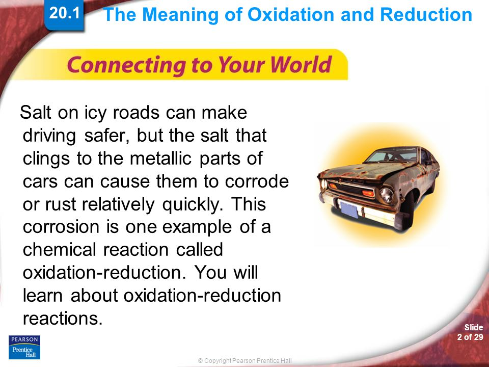The Meaning of Oxidation and Reduction