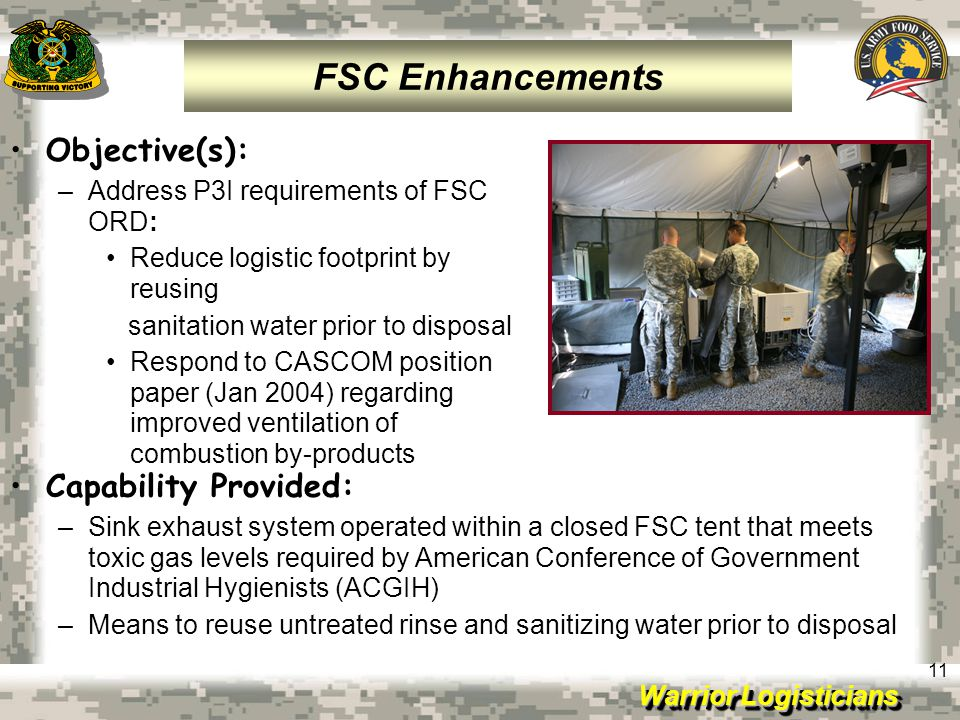 FSC Enhancements Objective(s): Capability Provided: