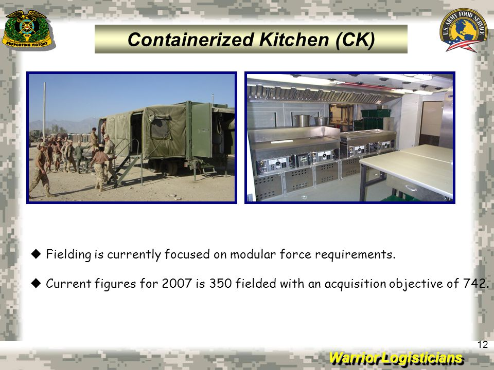 Containerized Kitchen (CK)