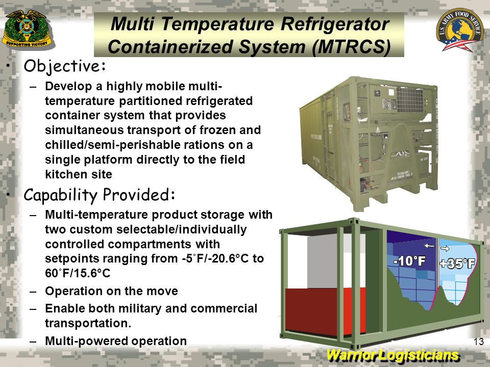 Multi Temperature Refrigerator Containerized System (MTRCS)