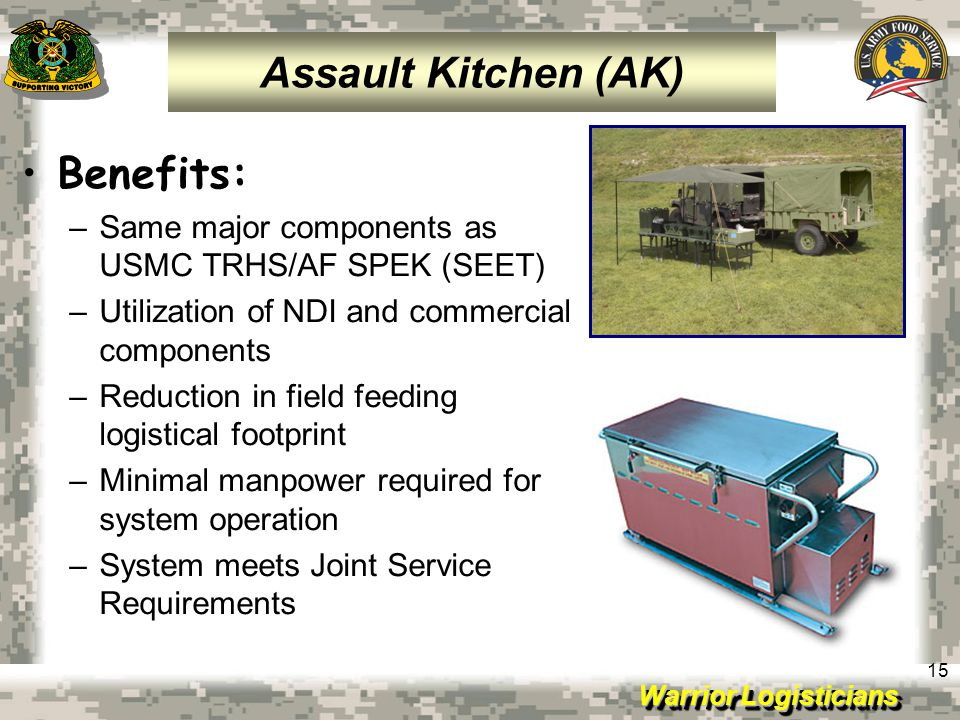 Assault Kitchen (AK) Benefits: