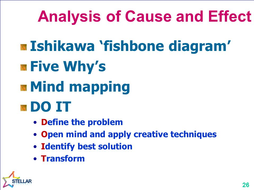 Analysis of Cause and Effect