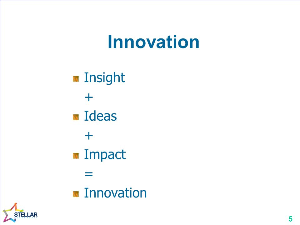 Innovation Insight + Ideas Impact = Innovation