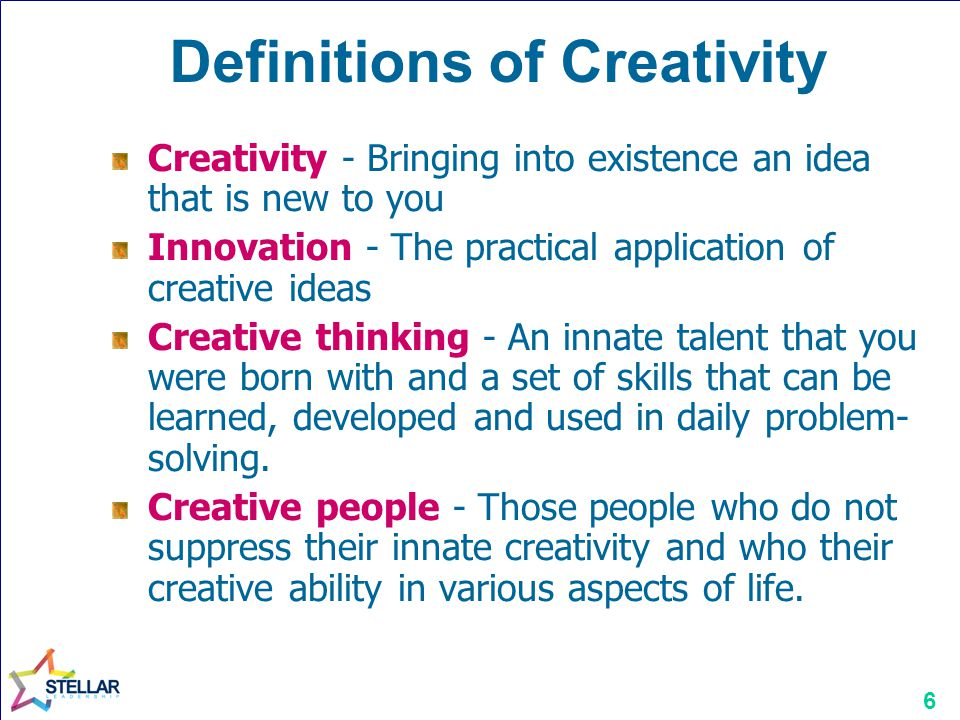 Definitions of Creativity