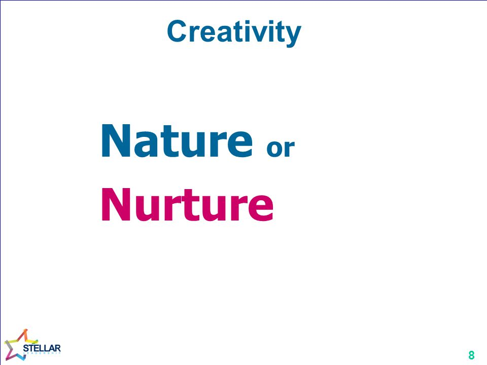 Creativity Nature or Nurture