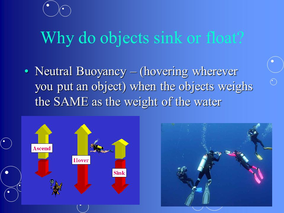 Why do objects sink or float
