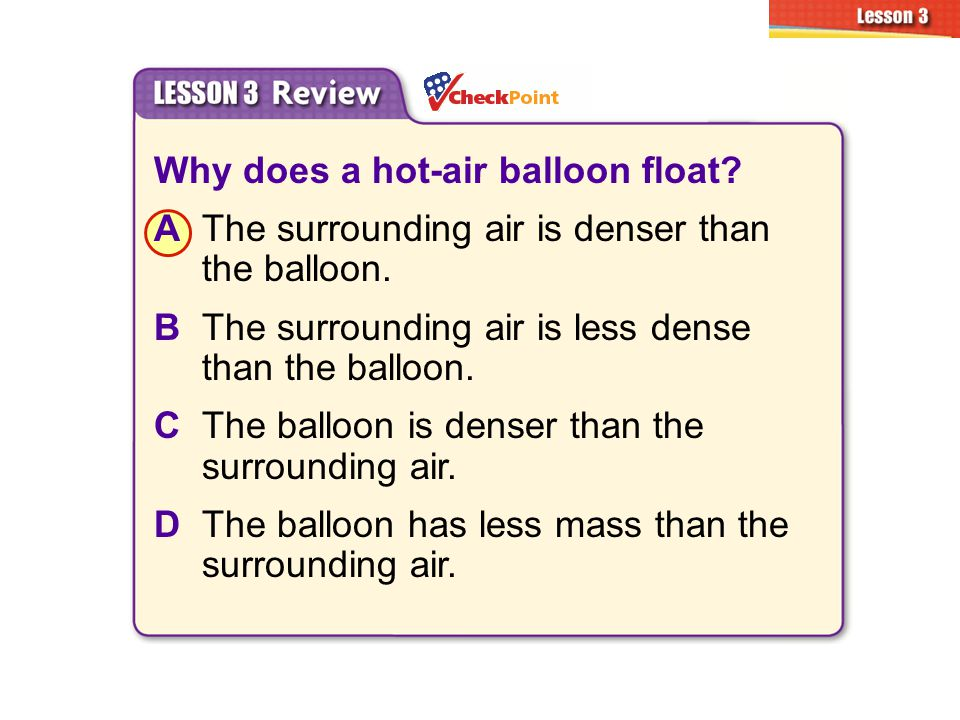 Why does a hot-air balloon float