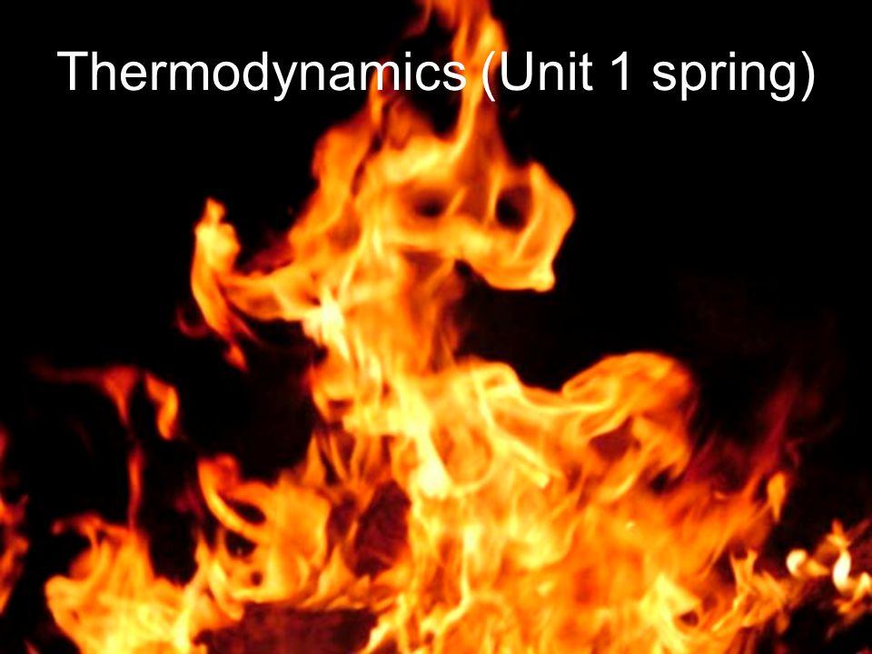 Thermodynamics (Unit 1 spring)