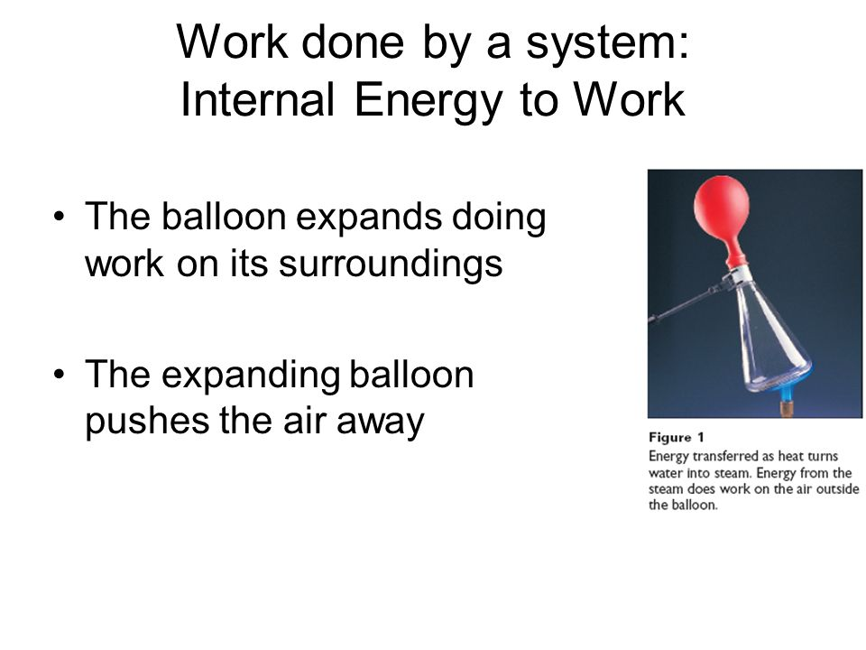 Work done by a system: Internal Energy to Work