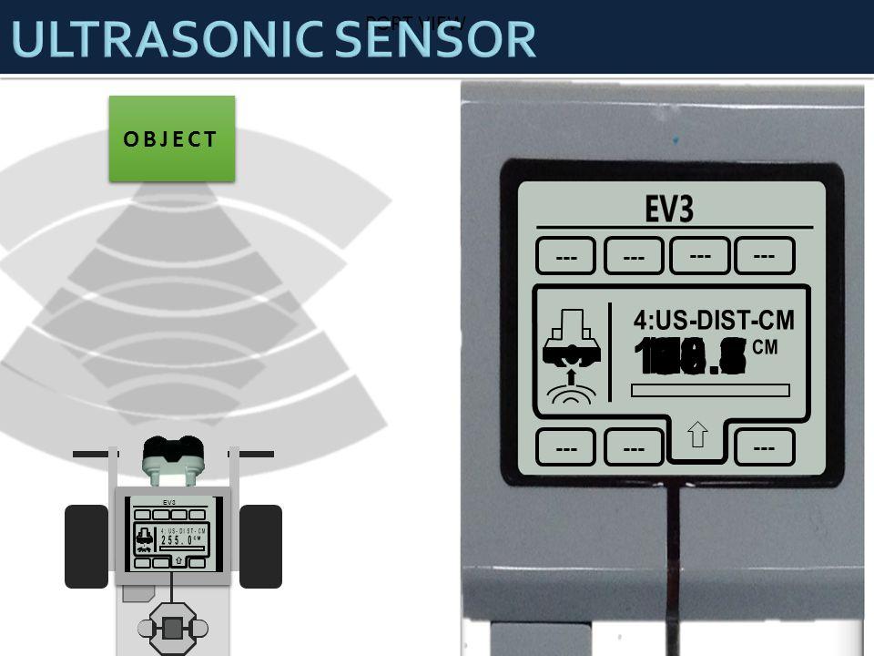 ULTRASONIC SENSOR OBJECT 2 45 PORT VIEW --- 4:US-DIST-CM 140.3 126.5