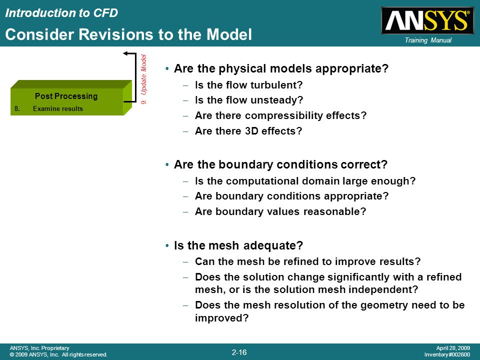 Consider Revisions to the Model