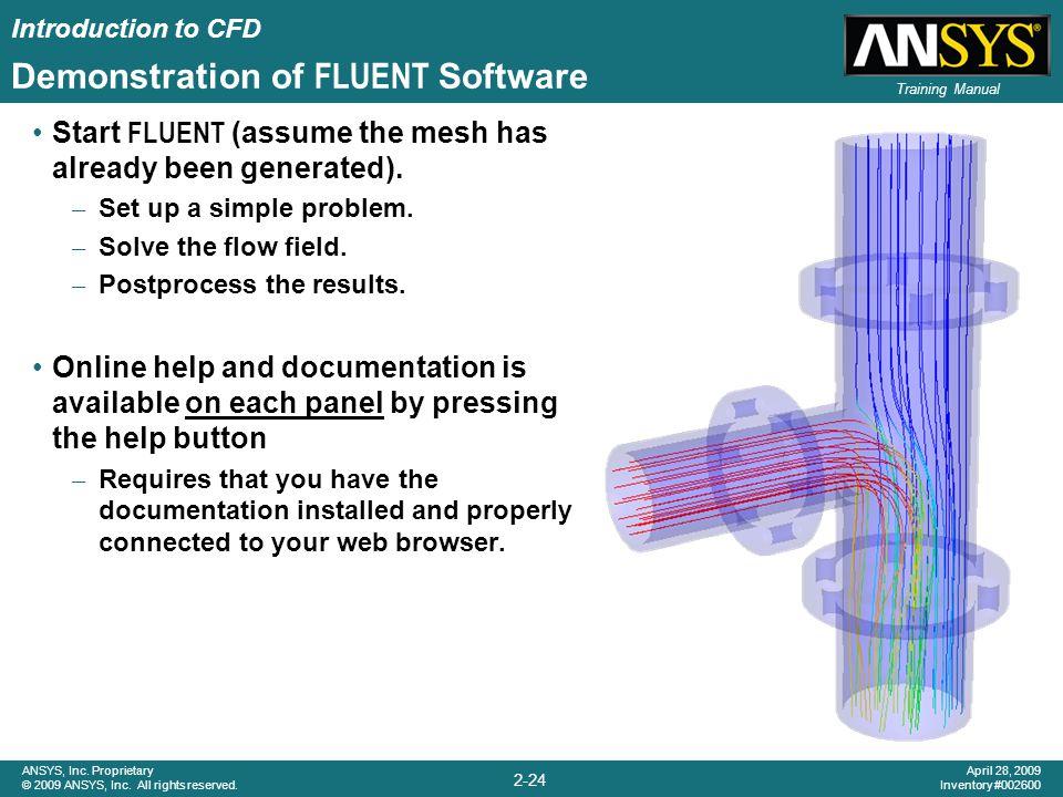 Demonstration of FLUENT Software