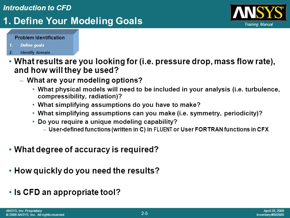 1. Define Your Modeling Goals