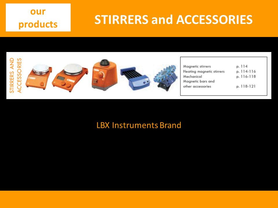 STIRRERS and ACCESSORIES