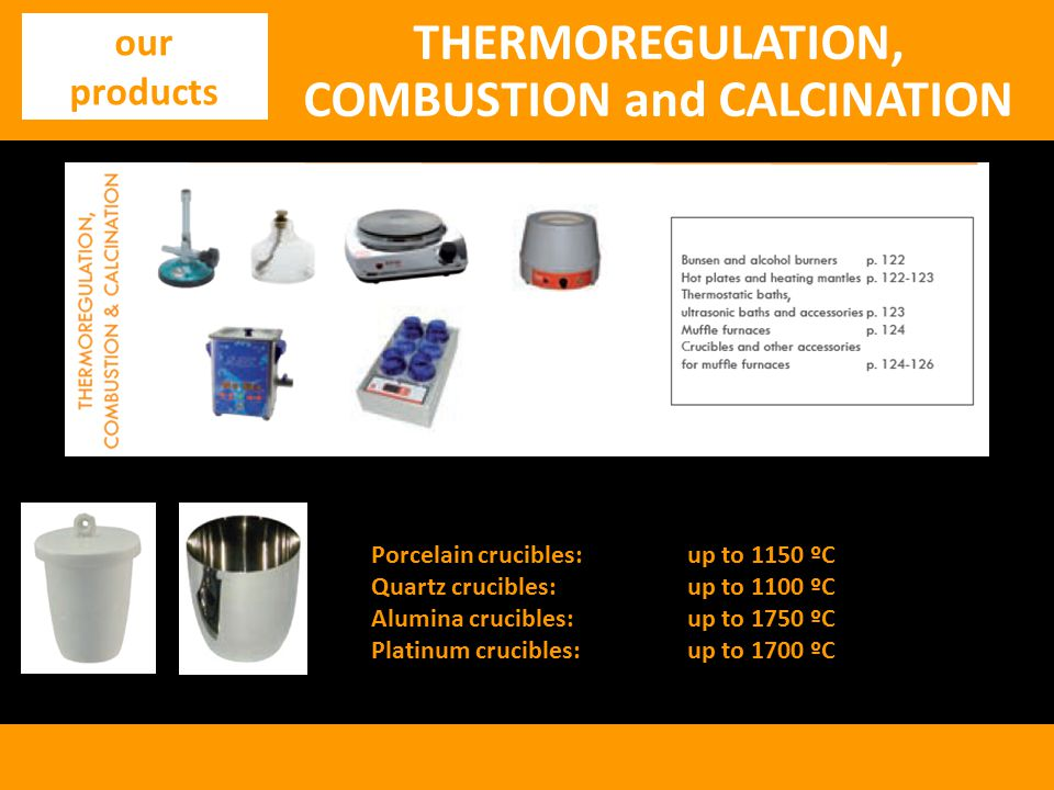 THERMOREGULATION, COMBUSTION and CALCINATION
